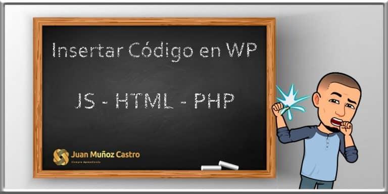 Insertar Código PHP en WordPress