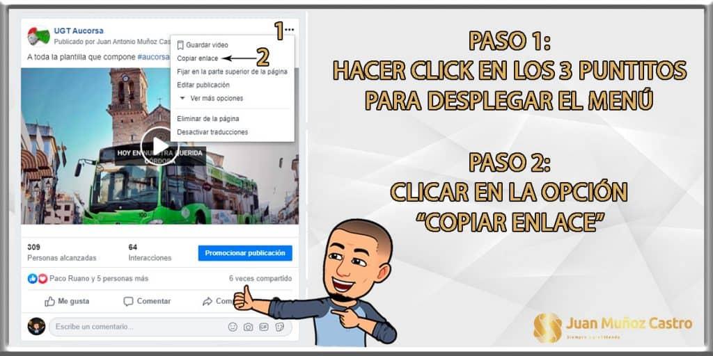 Copiar enlace para descarga de video de FB desde un ordenador de escritorio